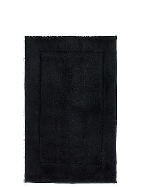 Quick Dry Bath & Pedestal Mats, BLACK, catlanding