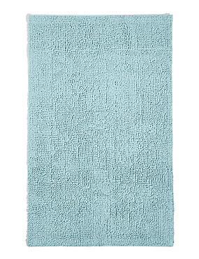 Soft Cotton Bobble Bath & Pedestal Mats, DUCK EGG, catlanding