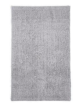 Soft Cotton Bobble Bath & Pedestal Mats, SILVER GREY, catlanding