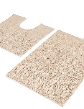 Soft Cotton Bobble Mat & Pedestal Mats