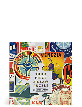 1000 Piece Jigsaw Puzzle Luggage Labels