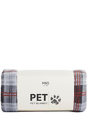 Pet Check Printed Blanket, , catlanding