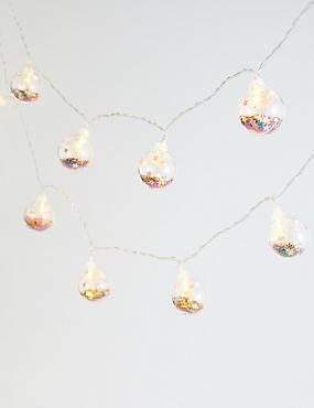 12 Trapped Glitter Bauble Lights, , catlanding