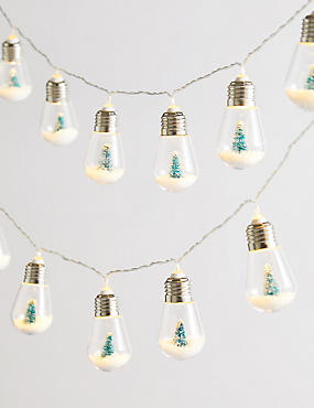 16 Snowy Tree Bulb Decorative Lights, , catlanding