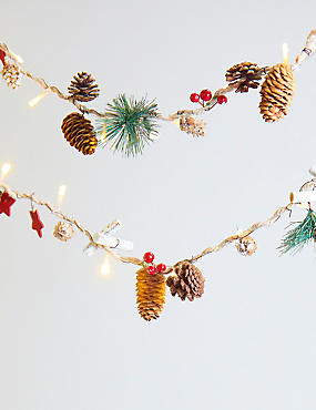 20 Pinecone Decorative Lights, , catlanding