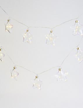 20 Clear Star Decorative Lights, , catlanding