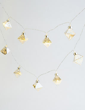 20 Silver Faceted Decorative Lights, , catlanding