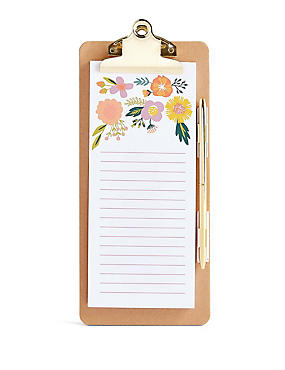 Shopping List Note Pad & Pen