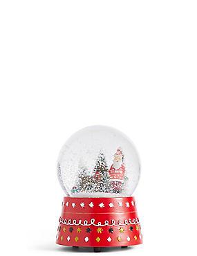 Santa Snow Globe, , catlanding