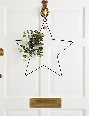 20 inch Star Wreath, , catlanding