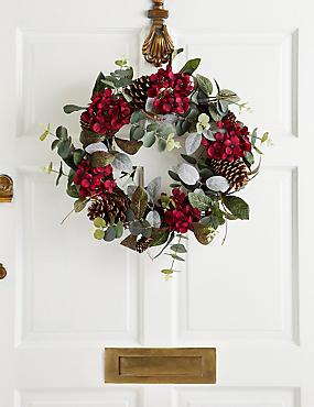 18 inch Floral Wreath, , catlanding