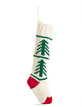 White Knitted Stocking