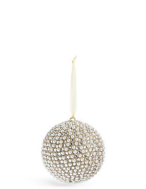 Beaded Pearl Bauble