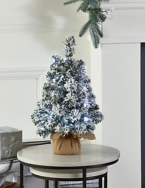 1.5Ft Lit Snowy Spruce Tree, , catlanding