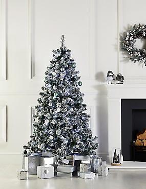 6Ft Lit Snowy Tree, , catlanding