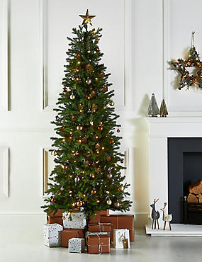 7Ft Slim Lit Fraser Fir Tree, , catlanding