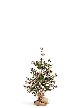1.5Ft Gold Pre Lit Christmas Tree