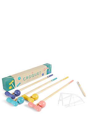 Wooden Croquet Set, , catlanding