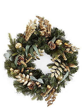 Gold Bauble Wreath
