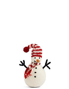 Snowman with Red Scarf, , catlanding