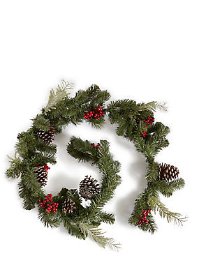 6Ft Pinecone & Berry Garland