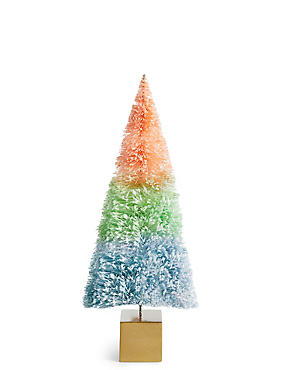 Large Multi-Colour Ombre Bristle Tree, , catlanding