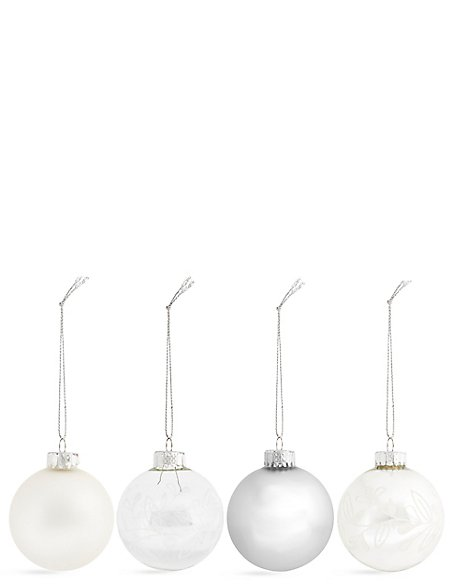 Set of 12 Luxury Glass Retreat Baubles