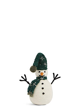 Snowman with Green Scarf, , catlanding