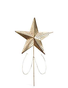 Metal Wire Star Tree Topper, , catlanding