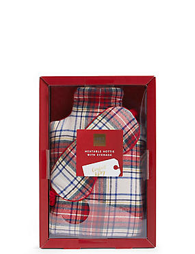 Tartan Hottie & Eye Mask Set