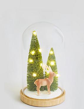 Reindeer in Large Light up Cloche, , catlanding
