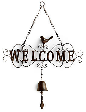 Welcome Bell Sign