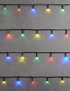 100 Multi-coloured LED Multifunction Lights