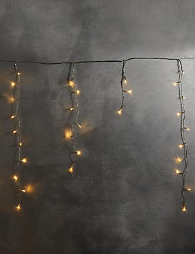 300 Warm White Icicle Lights