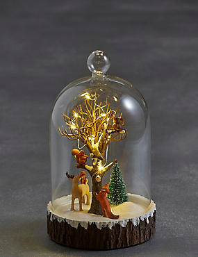 Light-up Forest Scene in Bell Jar