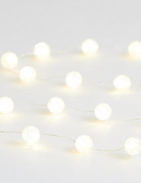 20 Mini Frosted Ball Wire Lights, , catlanding