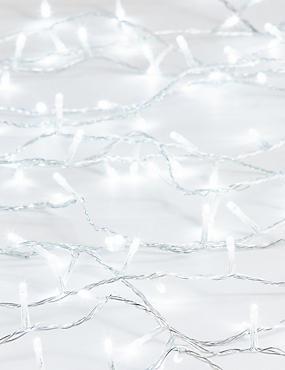100 Bright White Mains Lights, , catlanding