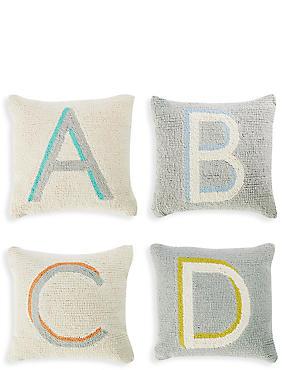 Alphabet Cushion, MULTI, catlanding