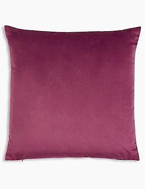 Velvet Cushion, BERRY, catlanding