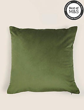 Velvet Cushion, GREEN, catlanding