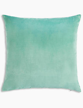 Velvet Cushion, SEA GREEN, catlanding