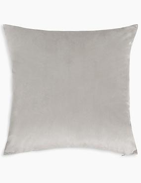 Velvet Cushion, TAUPE, catlanding