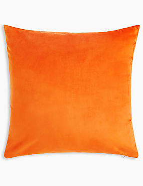 Velvet Cushion, BRIGHT ORANGE, catlanding