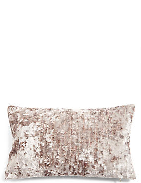 Crushed Velvet Bolster Cushion