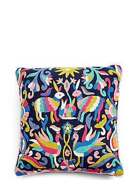 Freya Embroidered Cushion