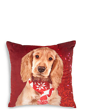 Christmas Spaniel Cushion