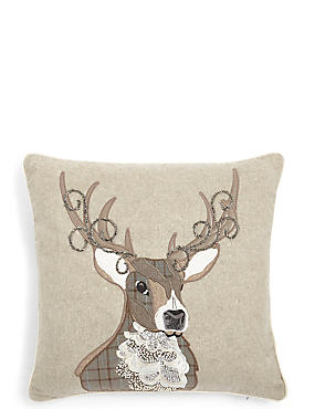 Stag Applique Cushion