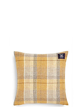 Pure Wool Checked Cushion