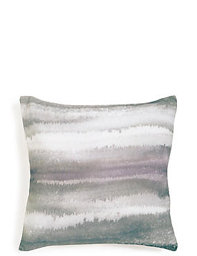 Watercolour Lines Print Cushion
