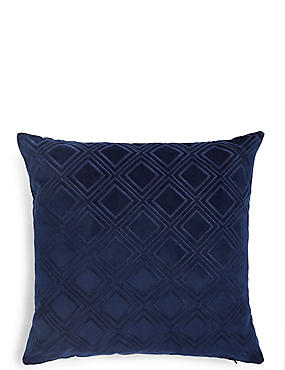 Velvet Geometric Print Cushion